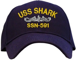 USS Shark SSN-591 Embroidered Baseball Cap - Available in 6 Colors - Hat - $25.95