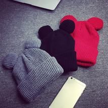 Women Devil Horns Cat Ear Hat Winter Caps Crochet Braided Knit Beanie Cute Wool - $7.59