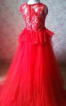 RED Lace Flower Girl Dress Short Straight Red Girl's Birthday Party Dresses NWT image 11