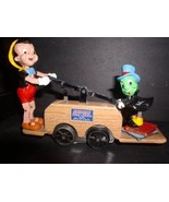 PRIDE LINES DISNEY PINOCCHIO AND JIMINY CRICKET WOODMOBILE HANDCAR-VERY ... - $395.99
