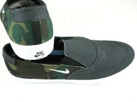 Nike Mens SB Portmore II SLR Slip On Canvas Skate Shoes Black Camo Size 8 New - $57.41