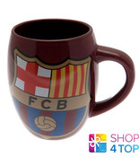 FC BARCELONA TEA TUB MUG COFFEE CUP BURGUNDY CERAMIC OFFICIAL SOCCER CLU... - $16.07