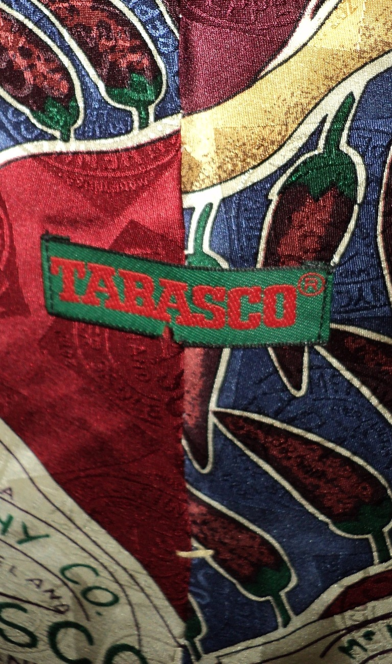 Men's Novelty Tie Tabasco Sauce Chili Peppers Made in USA
