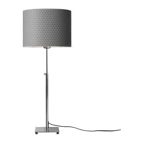 IKEA ALANG Table Lamp/Light Nickel Plated Gray, 201.908.34 - NEW IN BOX