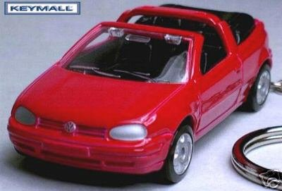 KEY CHAIN 1993~~1999/2000/2001/2002 RED VW GOLF CABRIO