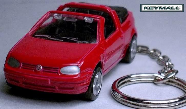 KEY CHAIN 1993~~1999/2000/2001/2002 RED VW GOLF CABRIO
