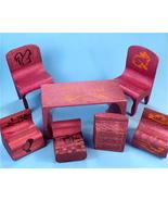 Antique Wooden Doll Furniture Puzzle, Original Box - $40.00