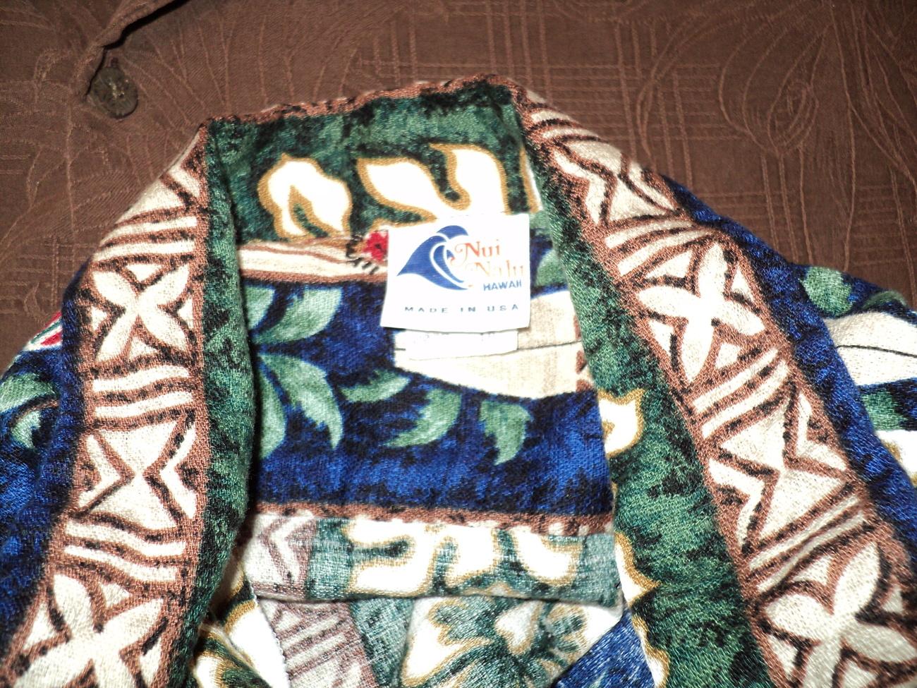 Boys Teens Hawaiian Shirt Size 18 Nui Nalu Made in USA Hawaii Surfboards