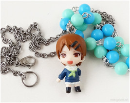 Kuroko no Basuke Riko Aida Necklace, Beaded Chain, Blue, Teal - Kawaii J... - $23.00