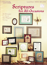 CROSS STITCH SCRIPTURES OF ALL OCCASIONS - $4.50
