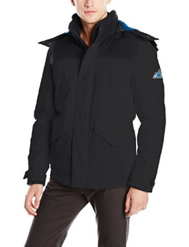VRY WRM Men's Free Ride Nordic Stretch Jacket Open Bottom Coat Removable Hood