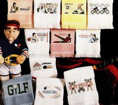 CROSS STITCH TOWELS FOR GOOD SPORTS - $3.50