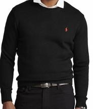 Polo Ralph Lauren Large L Black Crewneck Sweater Red Pony NWT - $95.00
