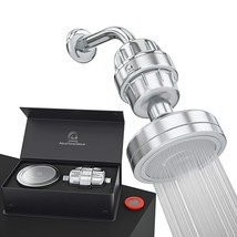 Luxury Filtered Shower Head Set 15 Stage Shower Filter for Hard Water Re... - $113.06