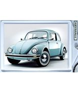 KEY CHAIN RING BLUE OLD VW BUG BEETLE KEYTAG VOLKSWAGEN - $9.95