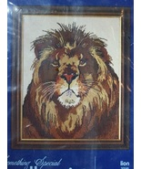 Lion Needlepoint Kit Candamar Designs - $16.00