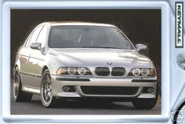 KEYTAG SILVER BMW M5 M-5 KEYRING KEY CHAIN RING TAG FOB - $9.95
