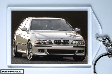 KEYTAG SILVER BMW M5 M-5 KEYRING KEY CHAIN RING TAG FOB