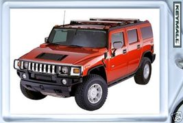 KEY CHAIN 2004/2005/2006/2007/2008 RED HUMMER H2 KEYTAG - $9.95