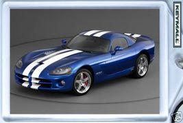KEYTAG 2006/2008 BLUE WHITE DODGE VIPER KEY CHAIN RING - $9.95