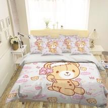 3D Cute Bear Doll 26 Bed Pillowcases Quilt Duvet Single Queen King US Lemon - $102.84+