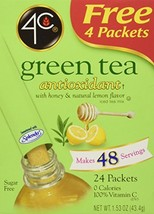 4C Totally Light Tea 2 Go Green Tea, Ice Tea Mix, Sugar Free, 20-Count Boxes Pac