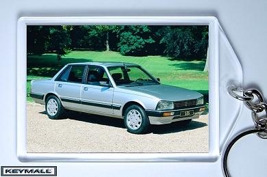 Ancien Model Porte Clé PEUGEOT 505 V6 Gris Metallis