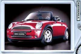 Key chain Porte Cle MINI COOPER CABRIOLET Red ROUGE New/Neuf - $9.95
