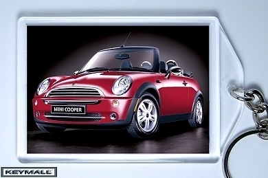 key chain porte cle mini cooper cabriolet red rouge new neuf keychains. Black Bedroom Furniture Sets. Home Design Ideas