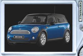 Rare Porte Cle MINI COOPER CLUBMAN BLEU/BLUE KEY CHAIN NEW - $9.95