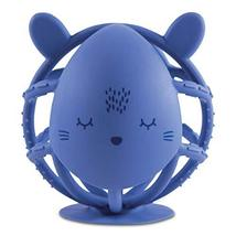 Tiny Twinkle Silicone Teether Toy - Indigo Bunny - BPA Free Multi Textured, Suct