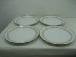 "Sheffield Fine China Set of Four (4) 10.25"" Dinner Plates Gold Trim & Details - $16.79"