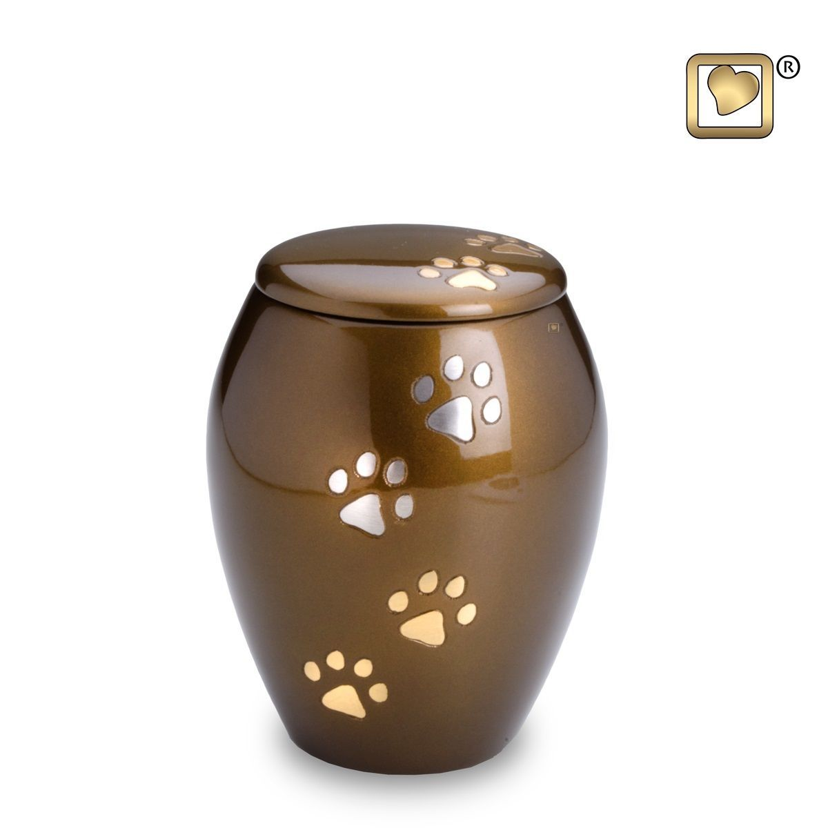 Majestic Paws Small Pet Funeral Cremation Urn, 60 Cubic Inches