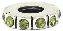 Light Green Spacer European Bead Pandora Style Chamilia Troll Biagi - $4.83
