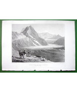 ITALY Alps Great St. Bernard - 1836 Antique Print Engraving - $11.10