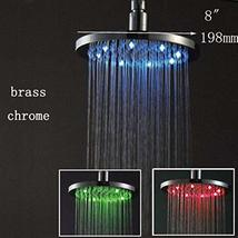 Cascada 8 Inch Round Multi Color LED Rain Shower Head, Polished Chrome Finish - $148.45