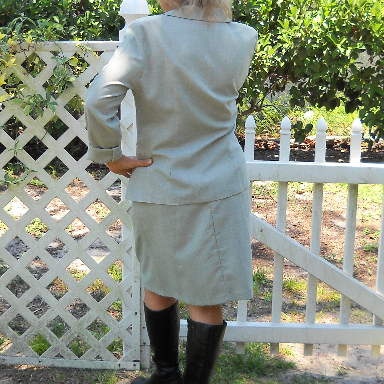 Jacket and Skirt Gray Suit Alexandra Michaels