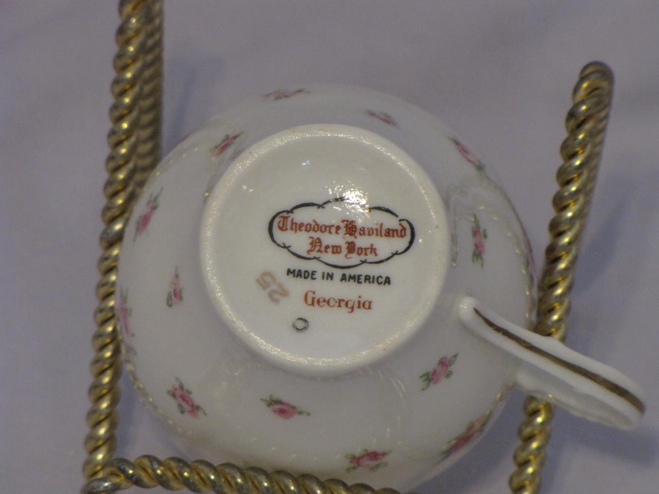 Theodore Haviland New York Georgia Demitasse Cup and Saucer