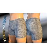 Thunderbox Nylon Spandex Mens Womens Denim Print Titan Shorts   - $20.00