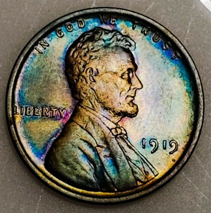 1919 UNC++ RB Lincoln Wheat Cent*  BEAUTIFULLY TONED *. 279