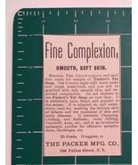 1889 The Packer Mfg. Co. Advertisement New York - $24.00