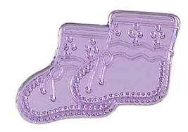 Booties Acrylic Charm-Lavender - $9.85