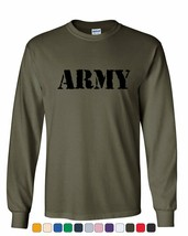 ARMY Long Sleeve T-Shirt Military Veteran POW MIA Patriotic Veteran's Da... - $9.28+