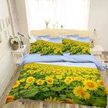 3D Sunflowers Plant 2 Bed Pillowcases Quilt Duvet Single Queen King US Summer - $102.84+
