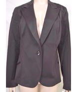 Womyn jacket SZ 12 NWT dark brown lined cotton blend NYC USA retail $311... - $49.49