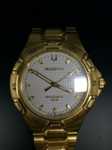 VINTAGE BULOVA ACCUTRON 14K GOLD FILLED CASE AND BAND - $225.39