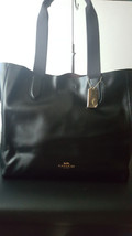 Coach Black Leather Large Derby Tote Bag F59388  - $173.24