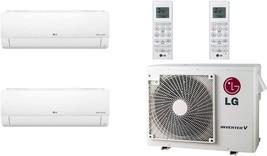Lg - LMV18CHV Cooling/Heat Pump 17,000 Btu Outdoor, 2X LSN120HSV5 12,000 Btu Ind - $5,599.84