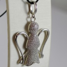 ROBERTO GIANNOTTI 925 SILVER NECKLACE PENDANT BIG ZIRCONIA ANGEL MADE IN ITALY image 2