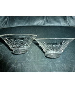 """Crystal Lead Lot 2 WATERFORD FLARE BOWLS 4-3/4"""" Diameter NO CRACKS CHIPS... - $64.99"""